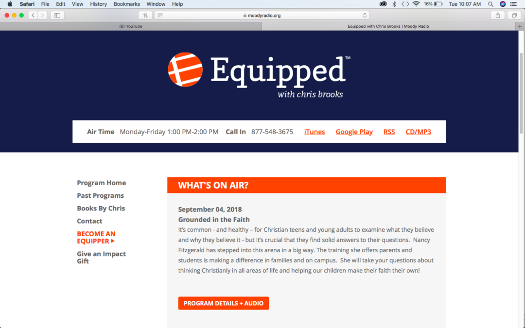Anchorsaway Featured on Equipped with Chris Brooks